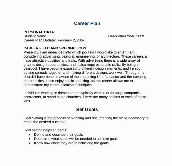Career Action Plan Template Best Of Sample Career Plan 11 Documents In Pdf Word