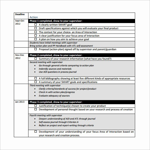 Career Action Plan Template Elegant Project Action Plan Template 11 Free Pdf Word format