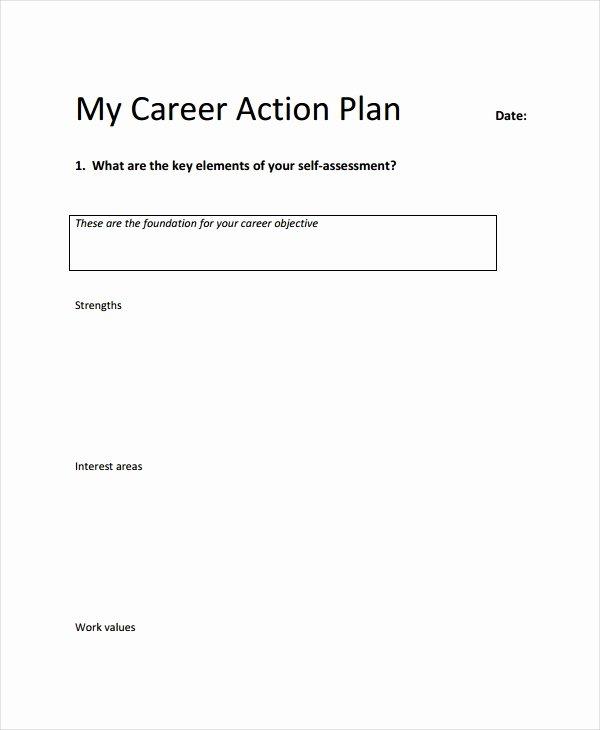 Career Action Plan Template Inspirational Career Action Plan Template 15 Free Sample Example