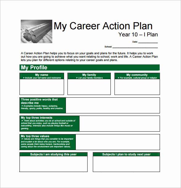Career Action Plan Template Unique 12 Career Action Plan Templates Doc Pdf Excel