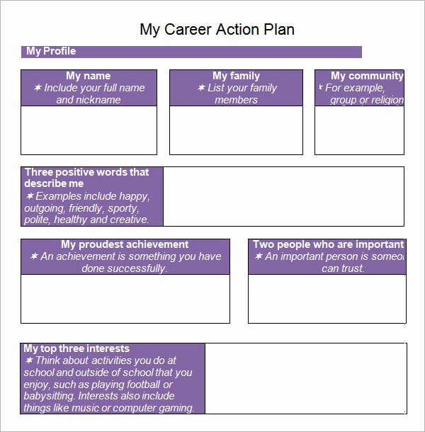 Career Action Plan Template Unique Sample Action Plan Template 15 Free Documents In Pdf