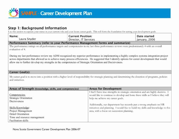 Career Development Plan Template Best Of 9 Career Development Plans Pdf