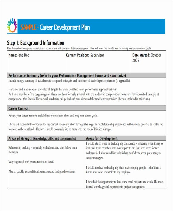 Career Development Plan Template Fresh 26 Development Plan Templates Pdf Word