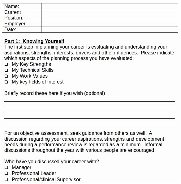 Career Development Plan Template New Sample Career Plan 11 Documents In Pdf Word
