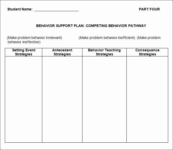 Case Management Plan Template Fresh Behavior Plan Template