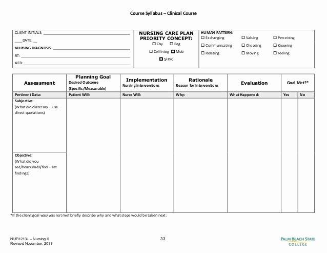 Case Management Treatment Plan Template Luxury Blank Nursing Care Plan Templates Google Search