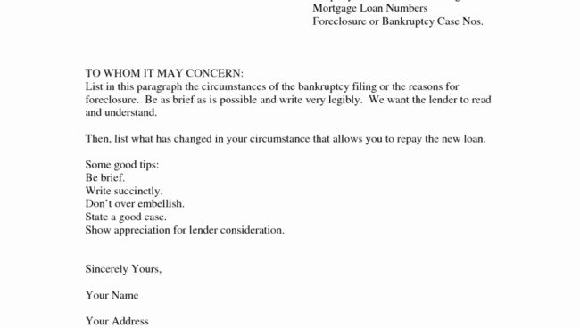 Cash Out Letter Of Explanation Luxury Letter Explanation for Mortgage Template