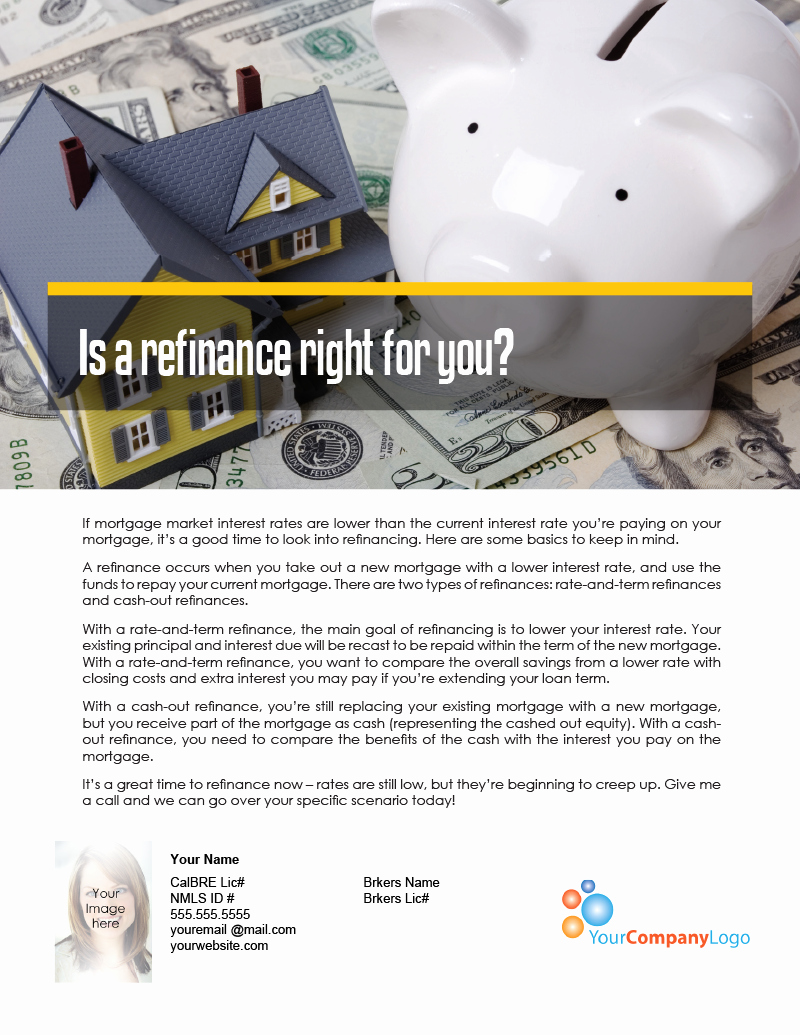 Cash Out Refinance Letter Sample Beautiful Farm is A Refinance Right for You