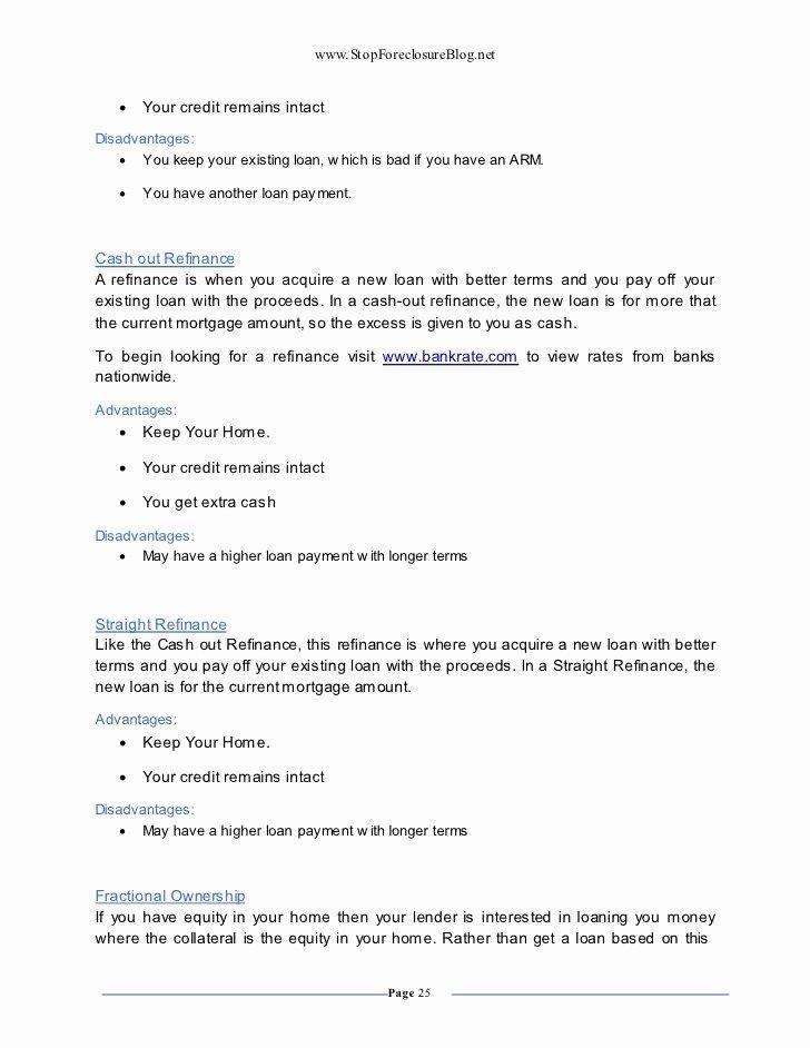 Cash Out Refinance Letter Sample New 24 Cash Out Refinance Letter Explanation Template