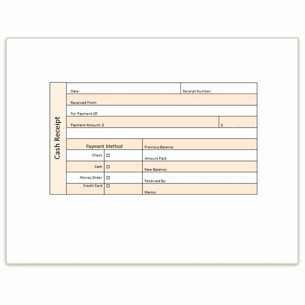 Cash Receipt format In Excel Awesome Download A Free Cash Receipt Template for Word or Excel