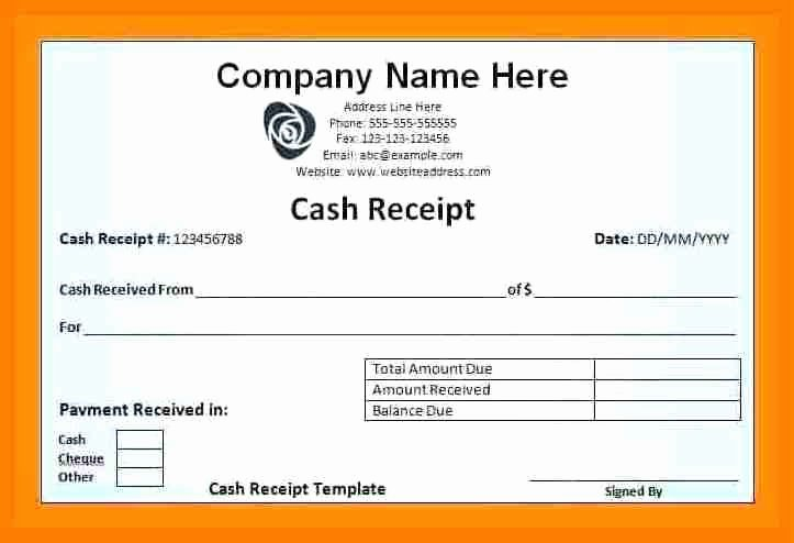 Cash Receipt format In Excel Beautiful 5 Cash Salary Voucher format