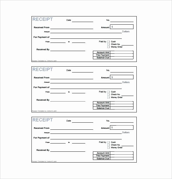 Cash Receipt format In Excel Beautiful Printable Cash Receipt Template Free format In Excel