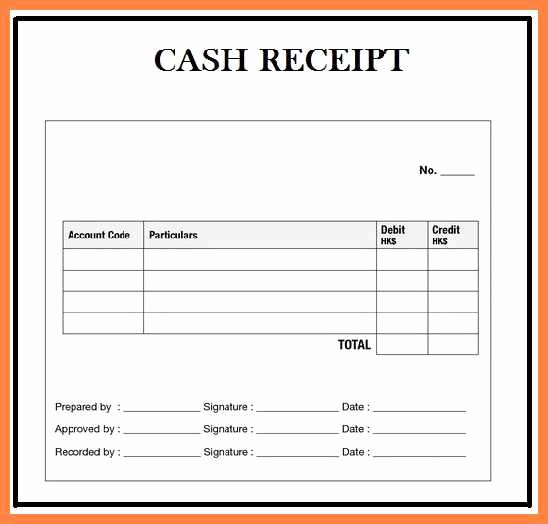 Cash Receipt format In Excel Best Of 6 Cash Receipt format In Excel Receipts Template