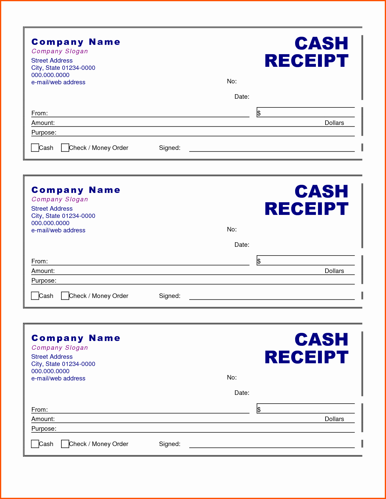 Cash Receipt format In Excel Lovely Cash Receipt form Examples Vatansun
