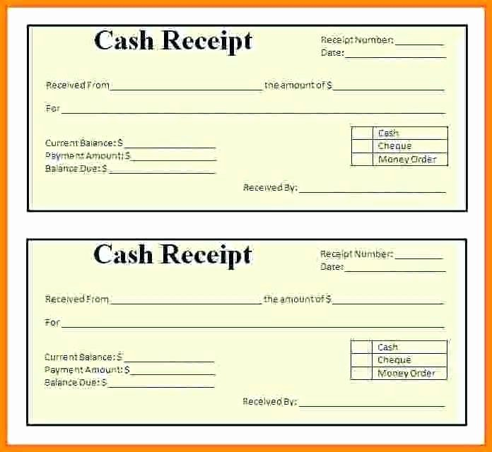 Cash Receipt format In Word Fresh Cash Receipt format In Template Excel Payment Word Petty