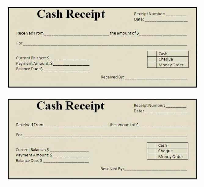 Cash Refund Receipt Template Awesome Free Receipt Template Excel Word Printable