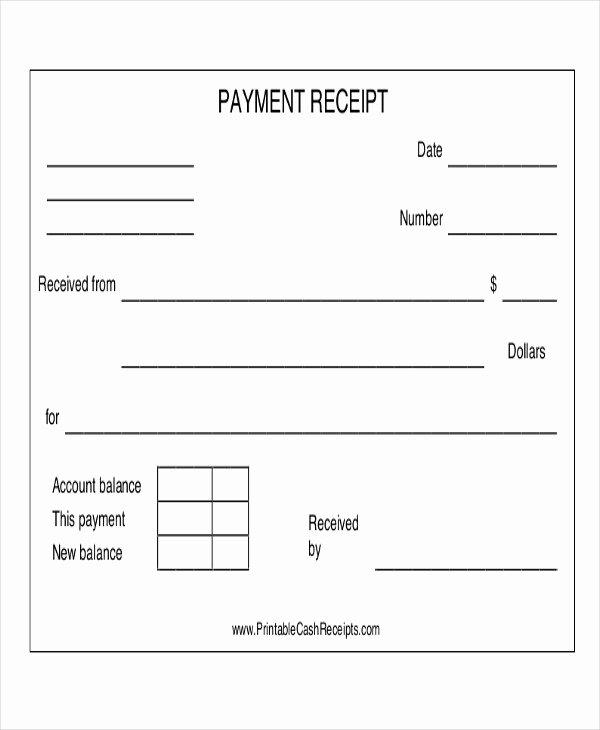 Cash Refund Receipt Template Best Of 14 Payment Receipt Acknowledgment – Pdf Word Excel