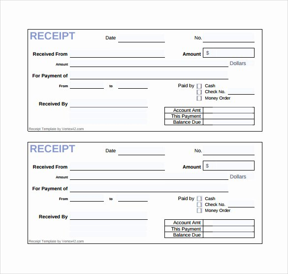 Cash Refund Receipt Template Best Of Sample Sales Receipt Template 19 Free Documents In Word