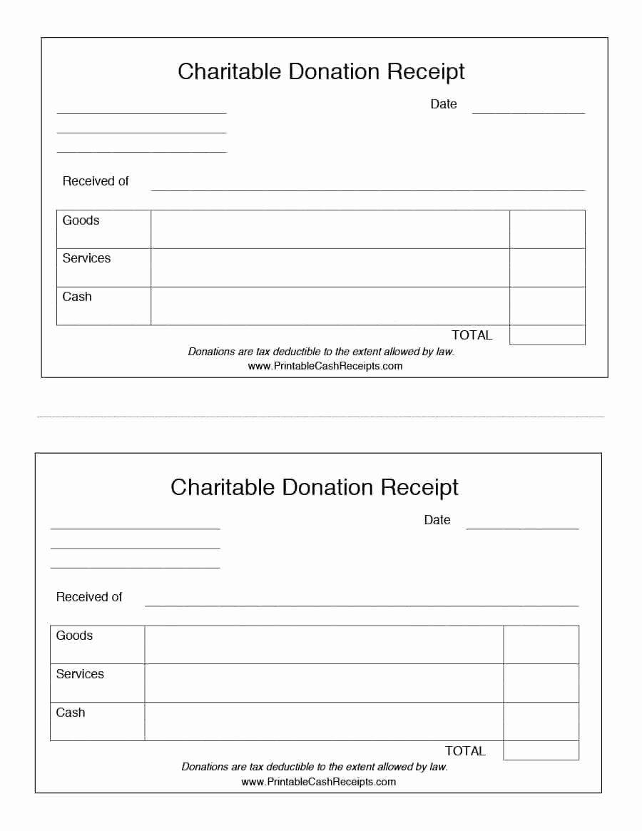 Cash Refund Receipt Template New 40 Donation Receipt Templates & Letters [goodwill Non Profit]