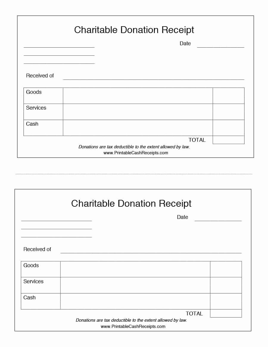 Cash Refund Receipt Template New 40 Donation Receipt Templates & Letters [goodwill Non Profit]