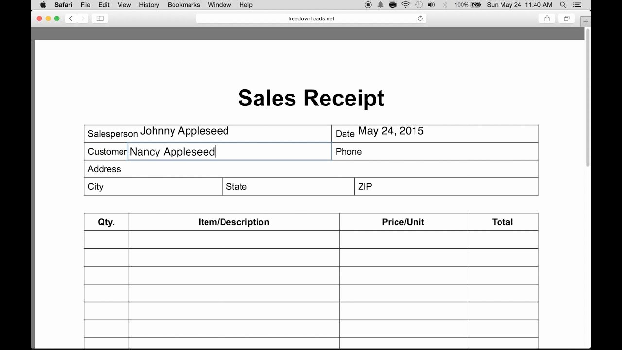 Cash Refund Receipt Template New How to Write An Itemized Sales Receipt form