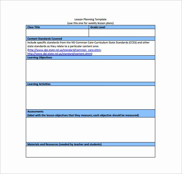 Ccs Lesson Plan Template Awesome 9 Mon Core Lesson Plan Template Pdf Doc