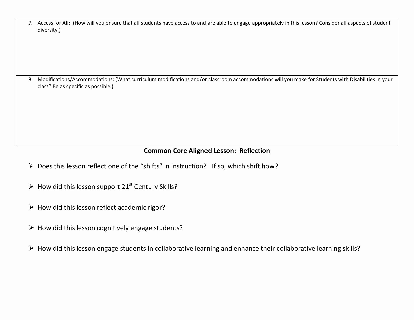 Ccs Lesson Plan Template Beautiful Lesson Planning Templates Ccss