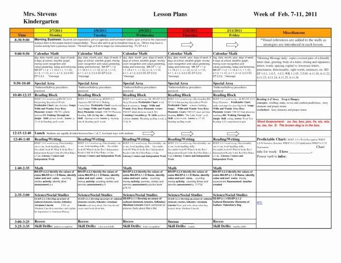 Ccs Lesson Plan Template Fresh Ccss Lesson Plan Template Doc Kindergarten Lesson Plan