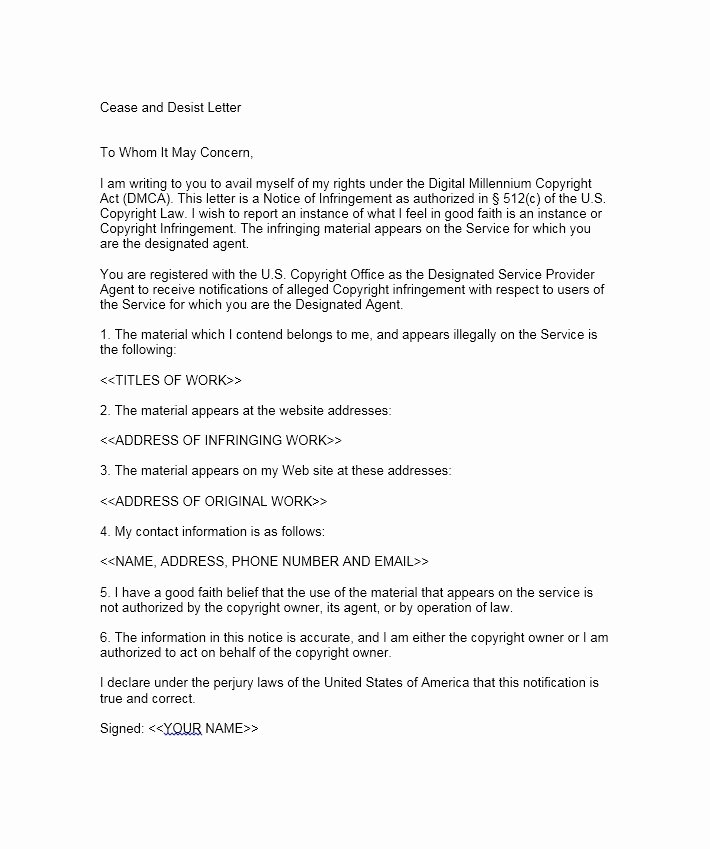 Cease and Desist Copyright Elegant 30 Cease and Desist Letter Templates [free] Template Lab