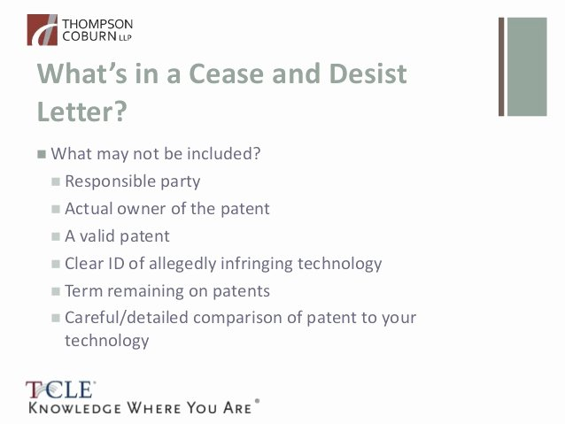 Cease and Desist Copyright Inspirational so You Got A Patent Cease and Desist Letter now What