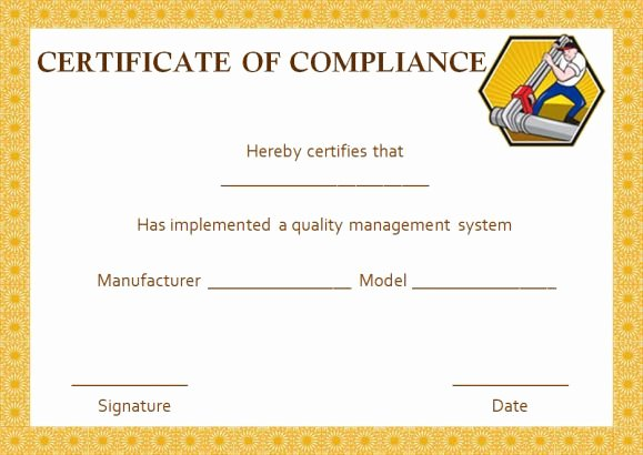 Certificate Of Conformance Template Pdf Beautiful 16 Downloadable and Printable Certificate Of Pliance