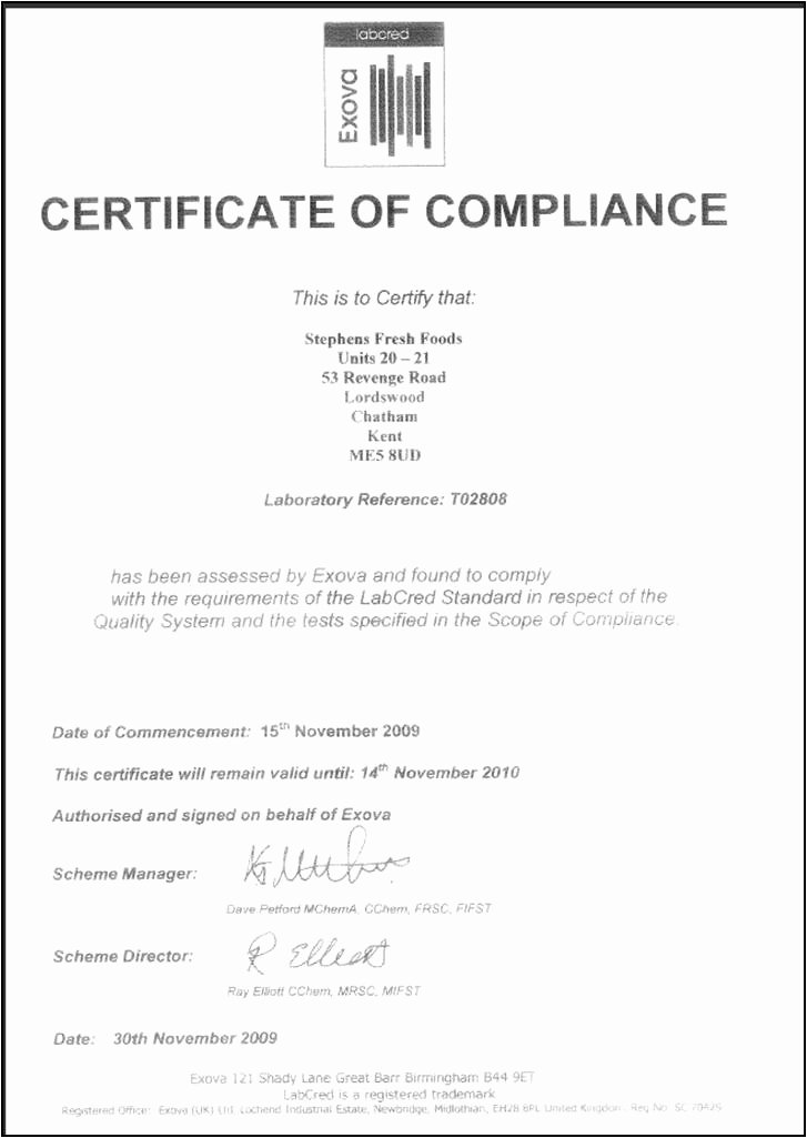 Certificate Of Conformance Template Pdf Beautiful Certificate Pliance Template Word Choice Image