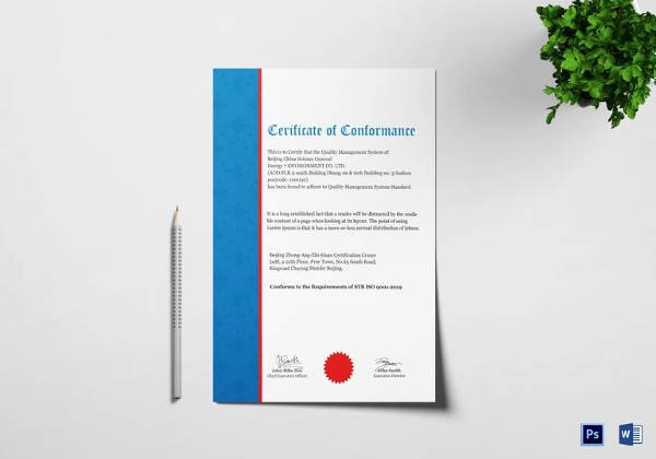 Certificate Of Conformance Template Pdf Lovely 13 Conformity Certificate Templates to Download