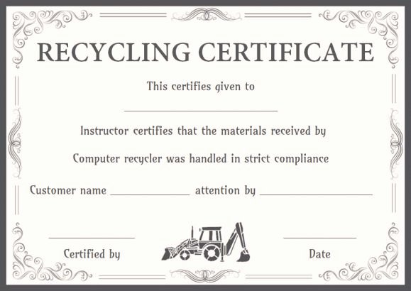 Certificate Of Destruction Template Awesome 8 Free Customizable Certificate Of Destruction Templates
