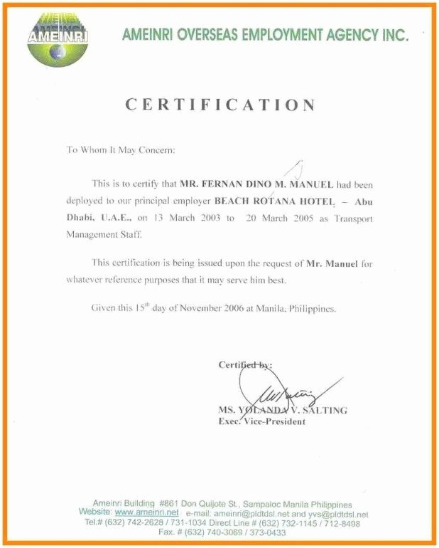 Certified Mail Letter format Elegant Free Certified Letter Template