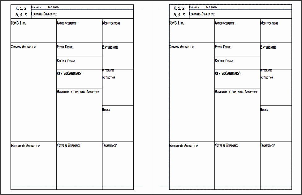 Cfi Lesson Plan Template Awesome 4 Lesson Plan Checklist Template Downloadable