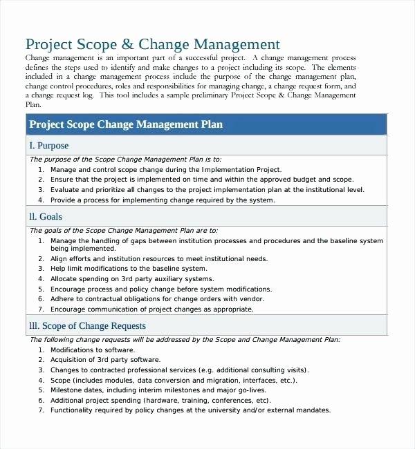 Change Management Communication Plan Template Beautiful Change Management Plan Template Pdf Change Management