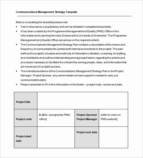 Change Management Communication Plan Template Elegant 20 Munication Plan Templates Free Pdf Ppt Excel
