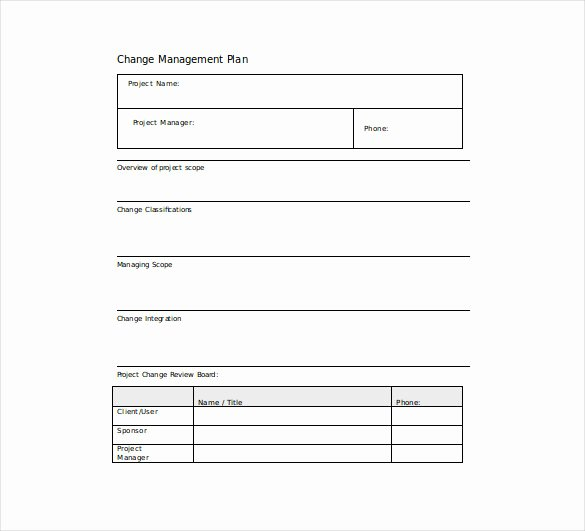 Change Management Plan Template Elegant 14 Change Management Plan Templates Free Sample