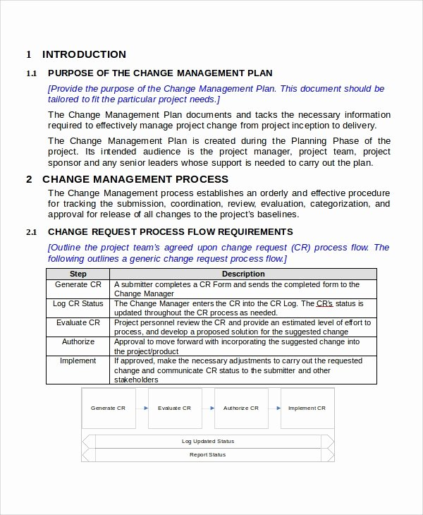 Change Management Plan Template Unique Sample Change Management Plan 11 Examples In Word Pdf