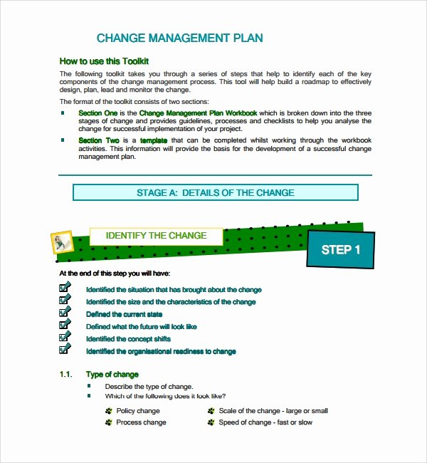 Change Management Plan Template Unique Sample Change Management Plan Template 13 Free