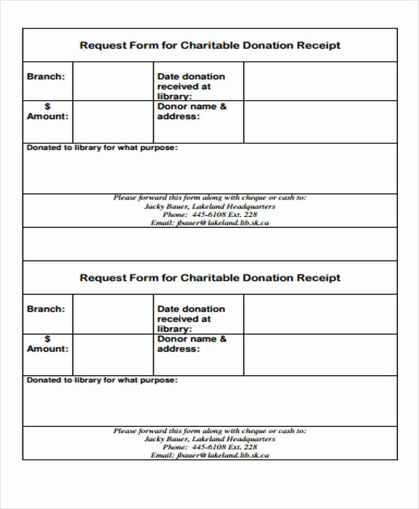 Charitable Donation Receipt Template Beautiful 39 Free Receipt forms