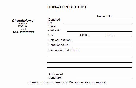 Charitable Donation Receipt Template Best Of 5 Charitable Donation Receipt Templates formats