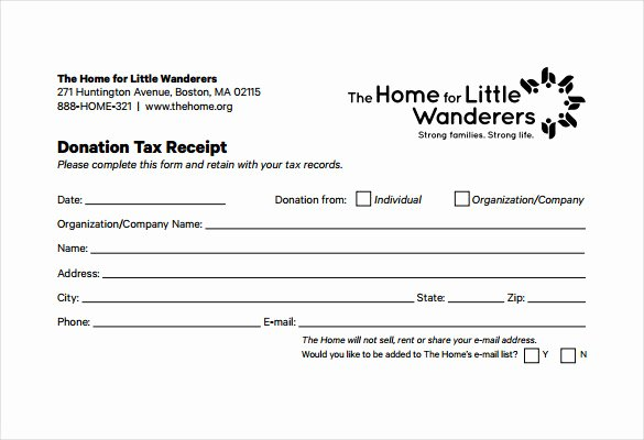 Charitable Donation Receipt Template Fresh 20 Donation Receipt Templates Pdf Word Excel Pages
