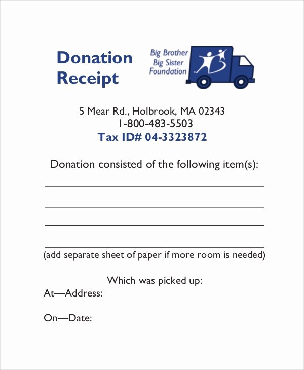 Charitable Donation Receipt Template New 15 Receipt Templates