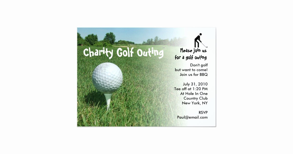 Charity Return Address Labels Fresh Golf Outing Charity Party Invitation