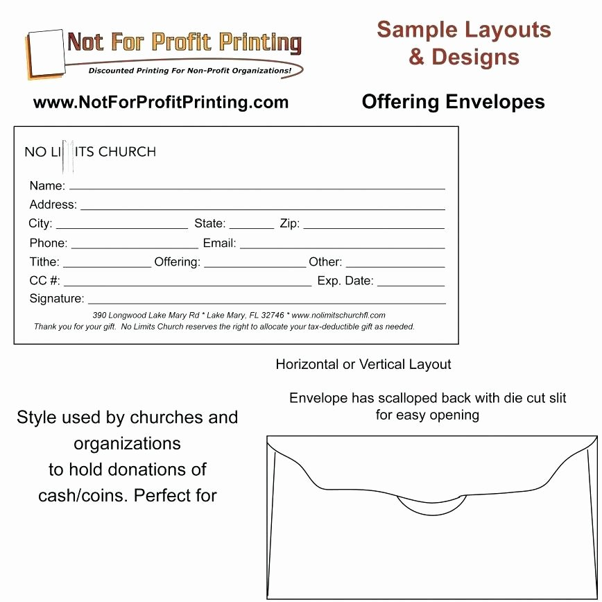 Charity Return Address Labels New Church Fering Envelope Template Donor Pledge form Free