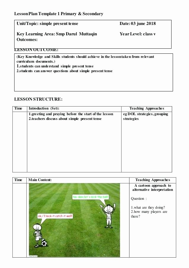 Charlotte Danielson Lesson Plan Template Luxury Secondary Lesson Plan Template Unique Lesson Plan Template