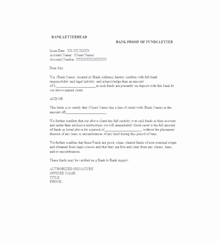 Chase Bank Proof Of Funds Letter Elegant How to Get Proof Funds Letter From Bank Template Uk