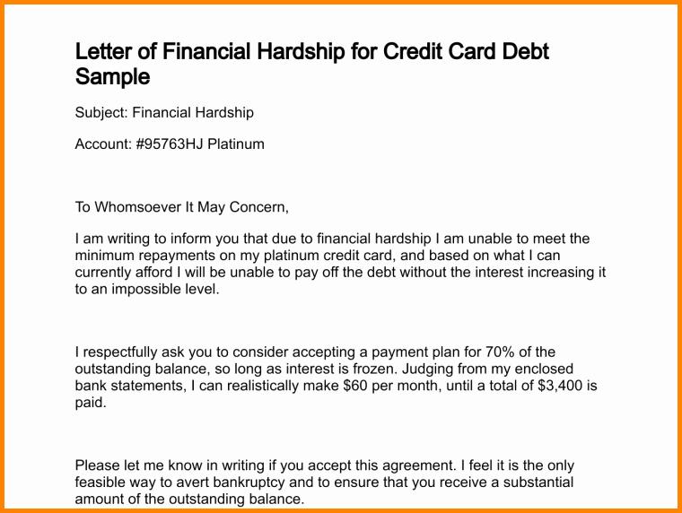 Chase Bank Proof Of Funds Letter New 6 Sample Hardship Letter for Medical Bills
